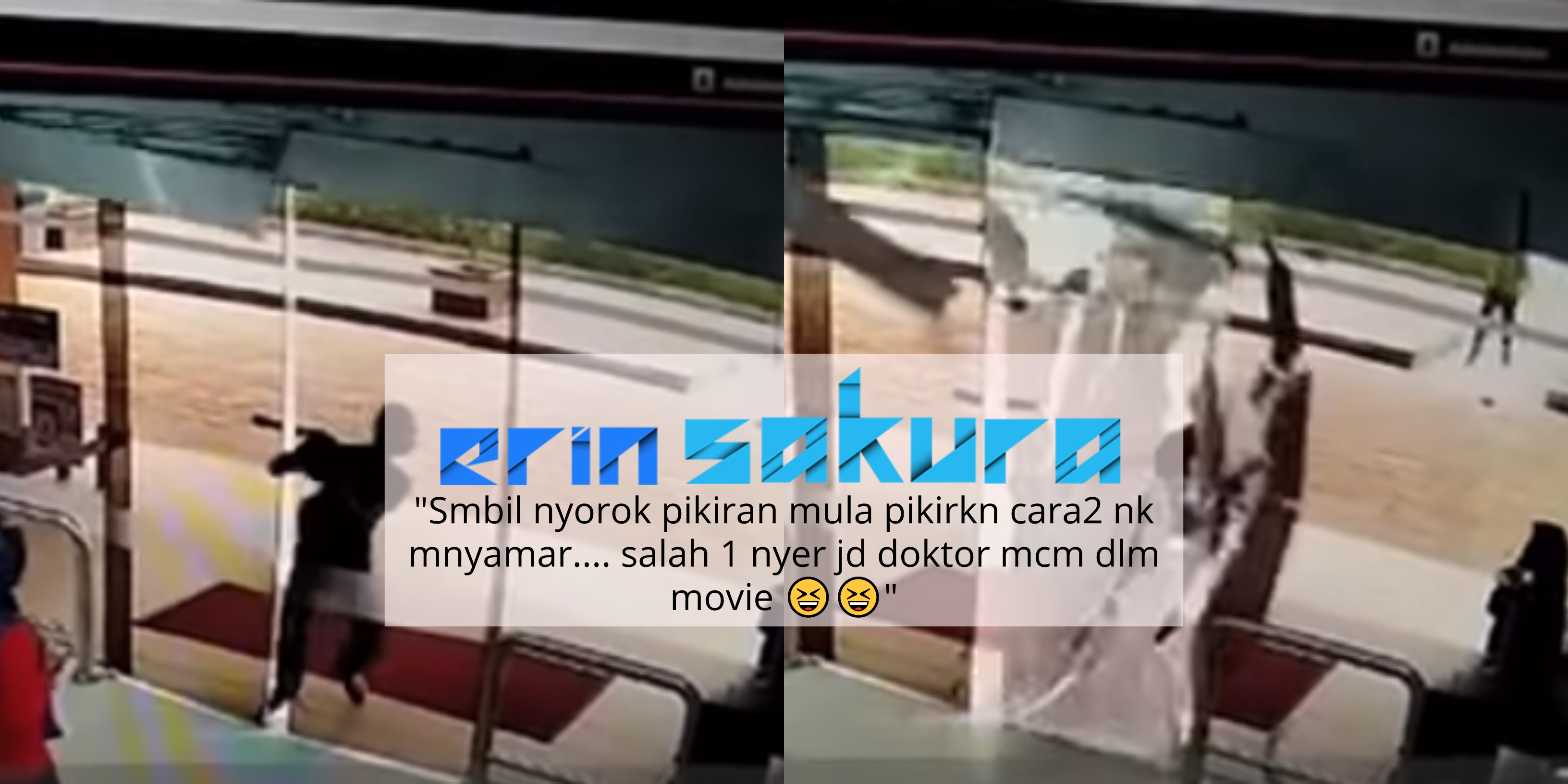 """[Video] """"Benda Boleh Langgar""""-Perompak Langgar Pintu Undang Komen Lucu Netizen"""