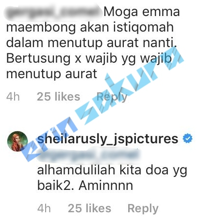 """""""Mana Tahu Skarf Tu Nanti Panjang Ke Belakang""""-Pesanan Deep Sheila Rusly Pada.."""