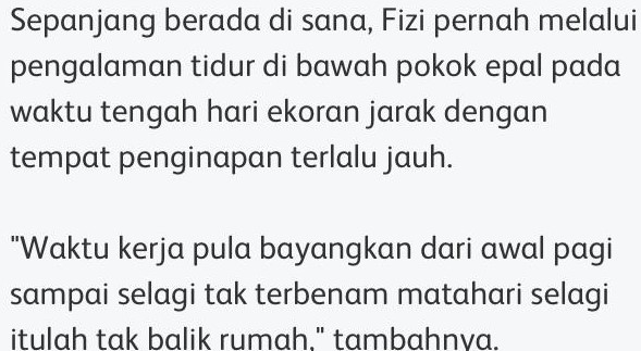 """Hidup Macam Pelarian, Selalu Takut.."" – Fizi Ali Mengaku Pernah Jadi PATI"