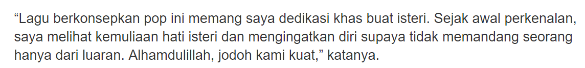 """Dia Masih Isteri Saya..""-Ariff Aziz Nafi Hubungan Dengan A. Aida Retak"