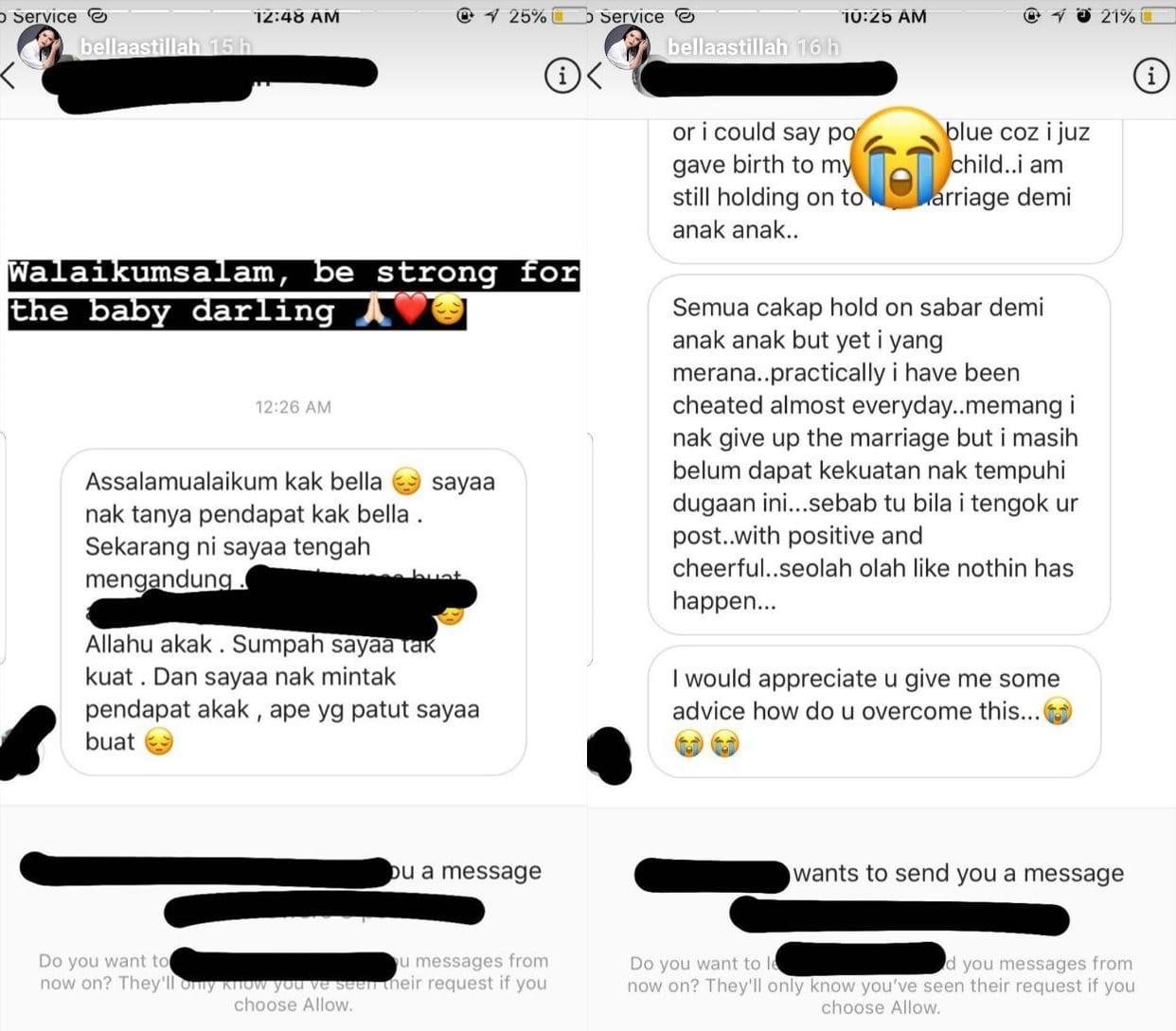 """""""Saya Tersentuh Hati"""" – Bella Astillah Jadi Tempat Mengadu Para Isteri Dilema"""