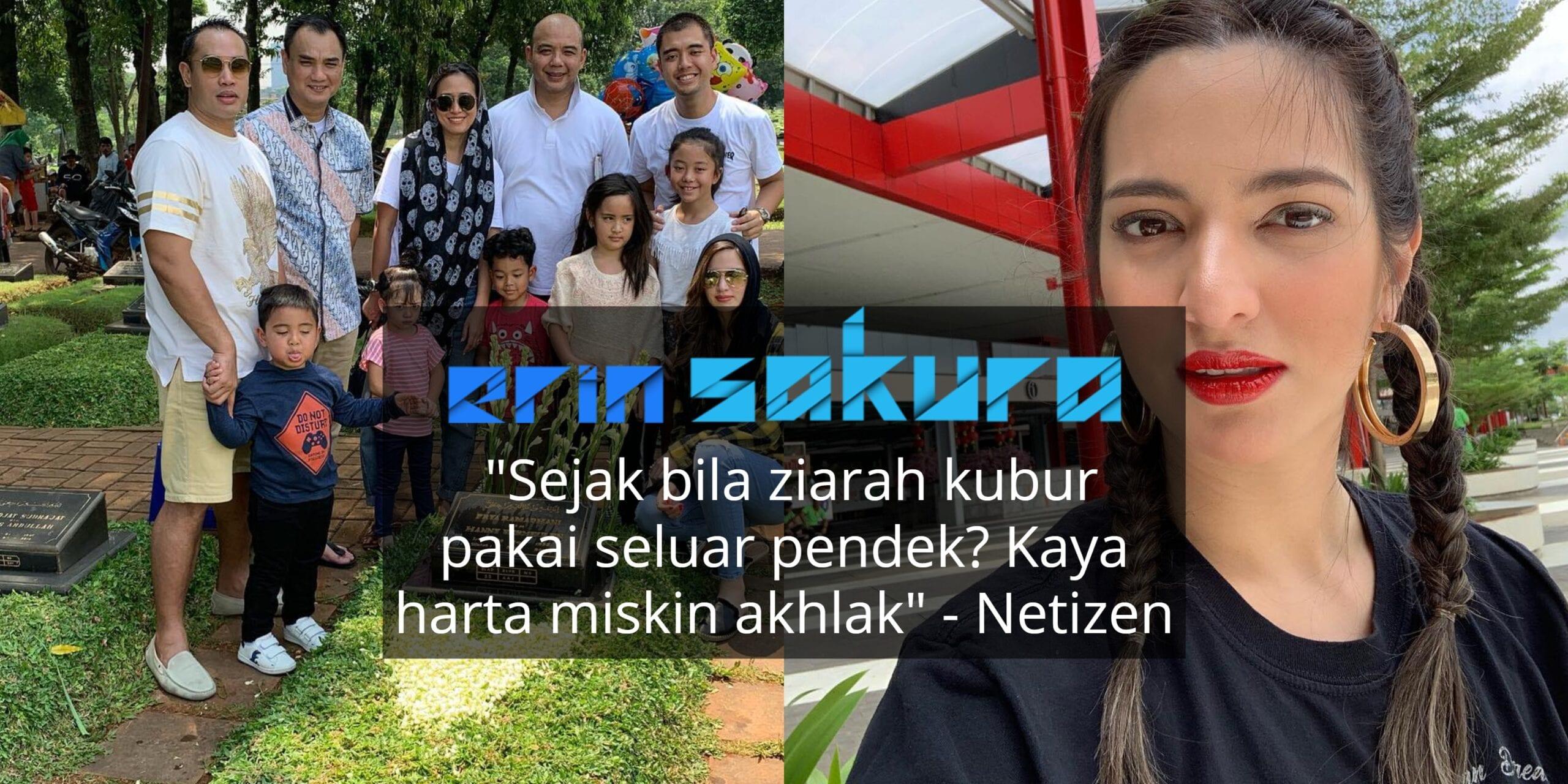 """""""Kesian Dekat Papa..""""- Ziarah Kubvr Bapa, Pakaian Nia Ramadhani & Suami Dikecam"""