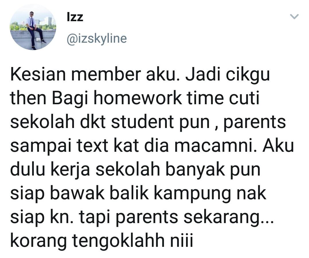 Geram Sebab Cikgu Bagi Anak Homework Masa Raya, Netizen Persoal Parents Ini
