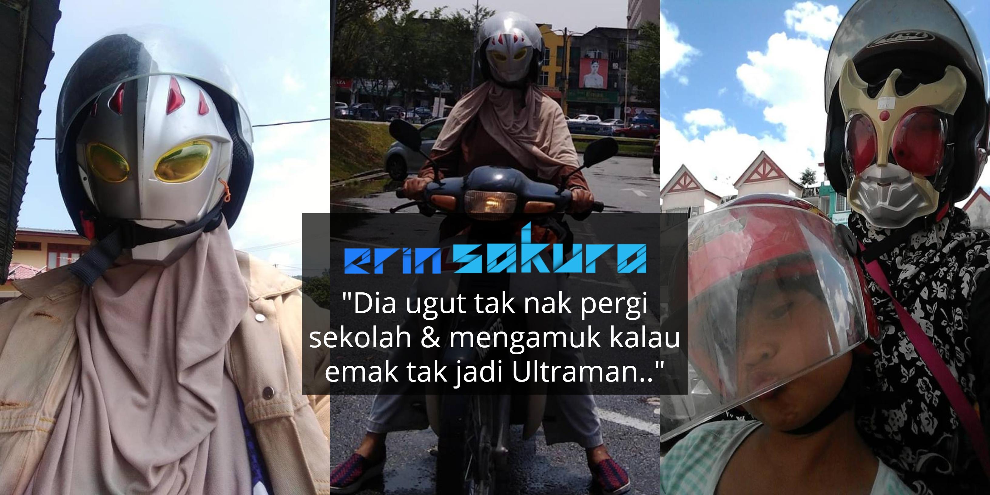 Sanggup Tebalkan Muka Jadi Ultraman Ke Sekolah, Janji Anak Autisme Seronok!