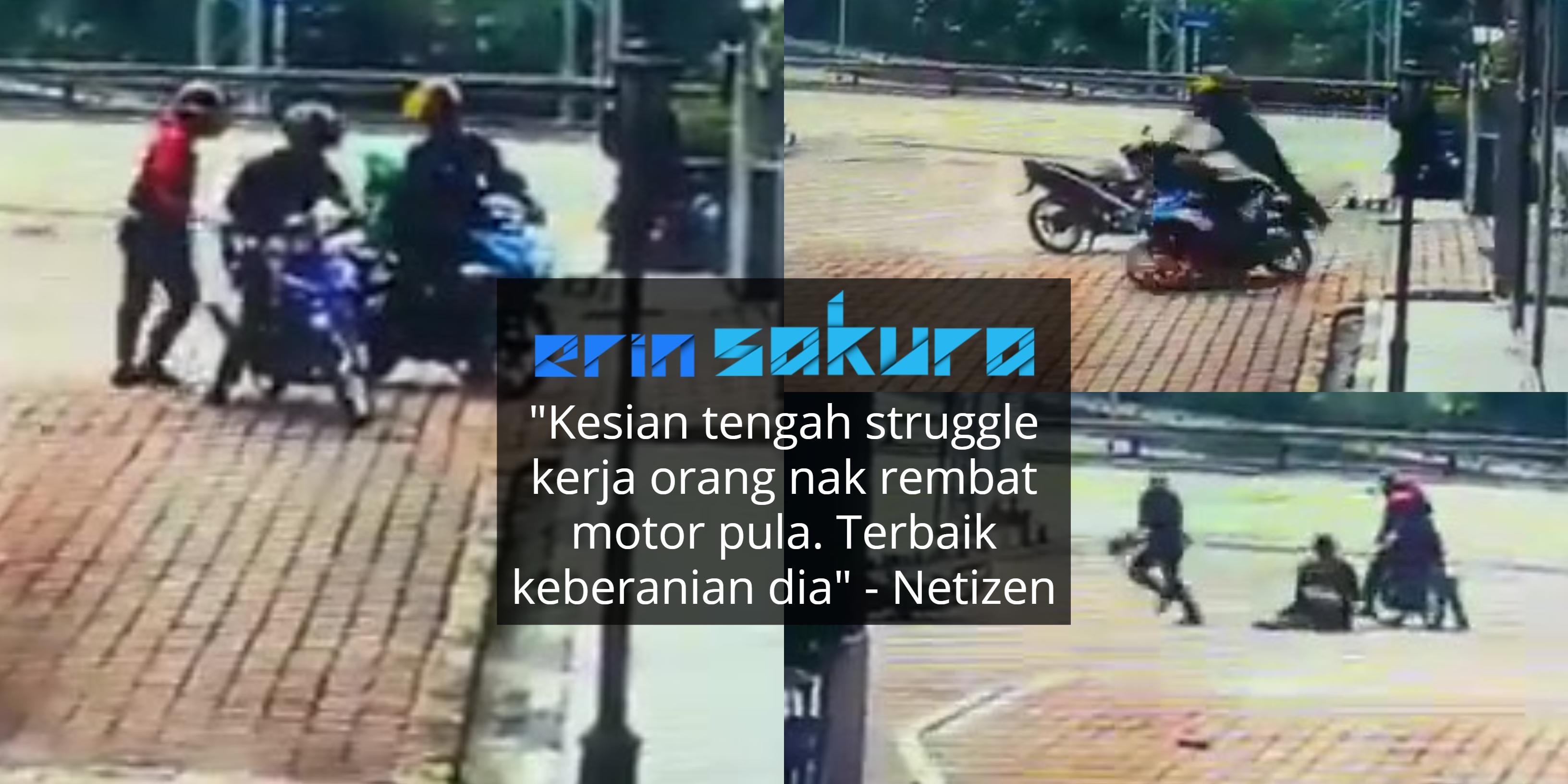 Rider Grab Food Nekad Selamatkan Motor, Penyamun Pula Tercicir Handphone!