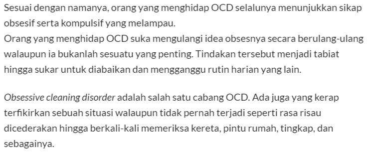 Kerusi Teralih Sikit Dah Naik Angin, Ini 7 Tanda Anda Penghidap OCD Serius!