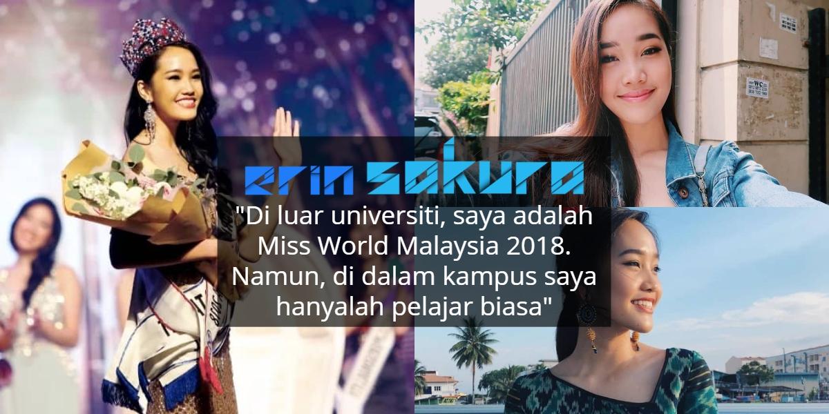 Pernah Mewakili Malaysia Ke China, Ratu Cantik Ini Tak Mahu Dibezakan Di IPTA