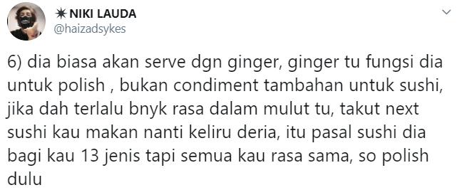 """""""Orang Malaysia Sangat Bazir Duit Sebab Tak Reti Makan Sushi Dengan Cara Betul"""""""