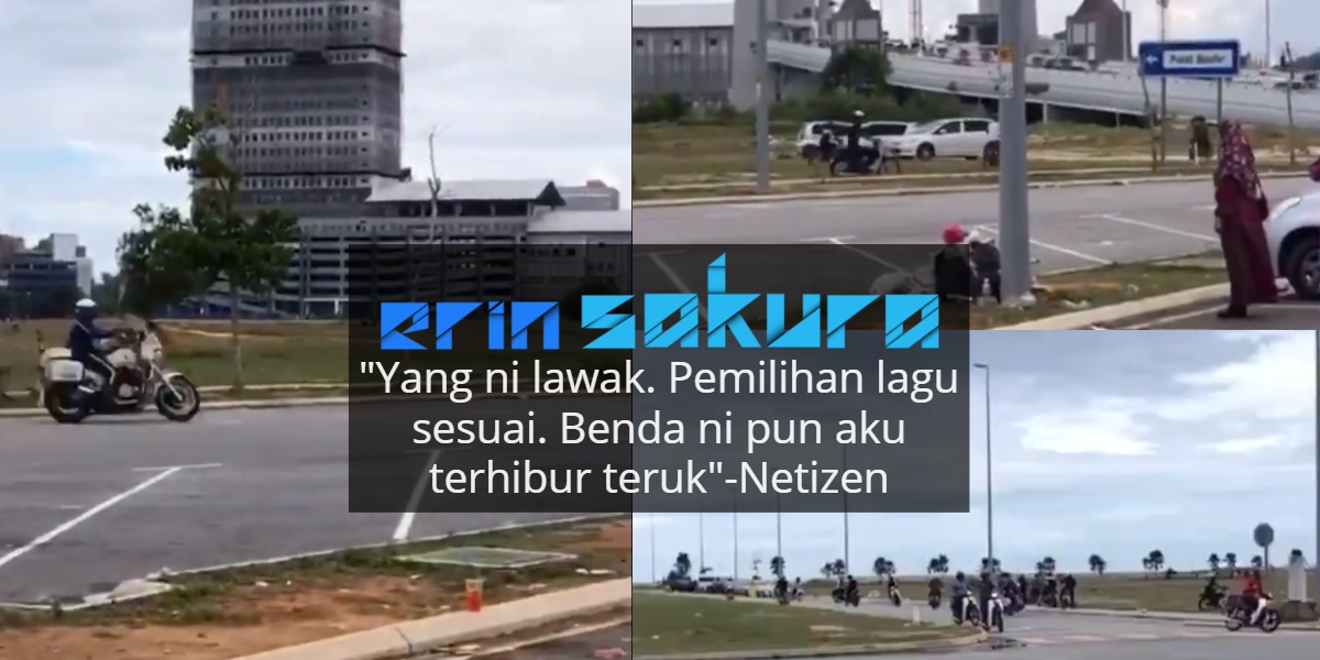 Kecoh Video Mat Rempit Gelabah Lari Diserbu Polis, Lagu Latar Pula Jadi Tumpuan
