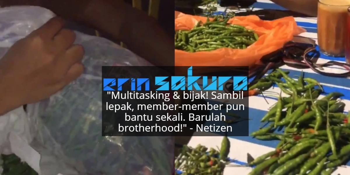 Bila Nak Lepak Dengan Kawan Tapi Bini Suruh Kupas Bawang & Cili, Ini Jadinya..