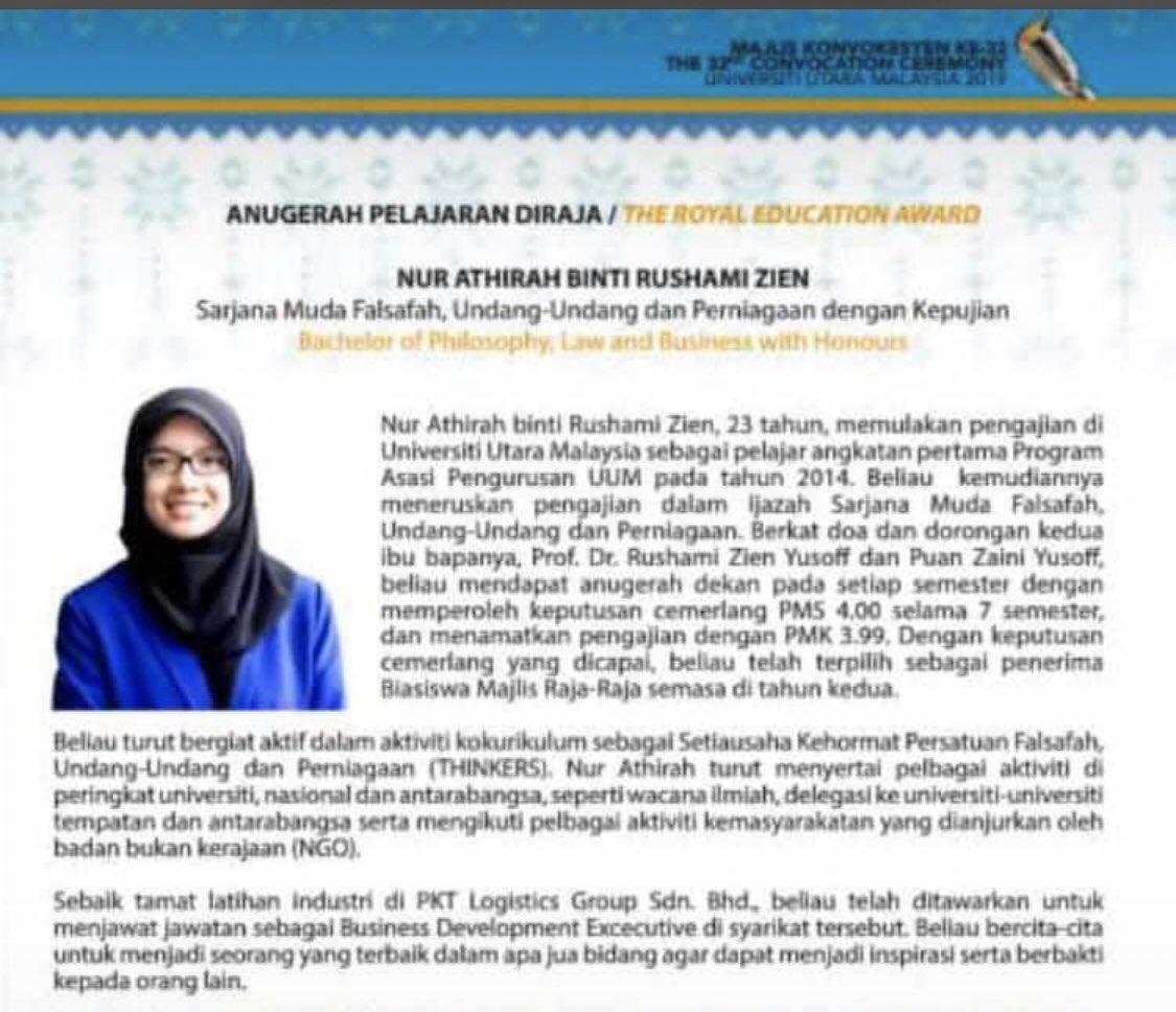 Graduan UUM Raih Anugerah Pelajaran Diraja Sampai Neelofa Cari Nak Bagi Hadiah