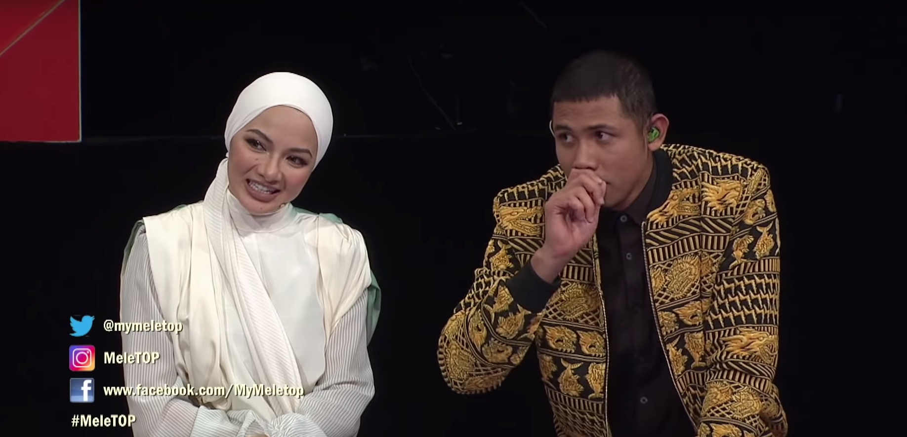 [VIDEO] Muncul Bunyi Guli Di Live MeleTOP, Riak Muka Neelofa Makin Tambah Seram