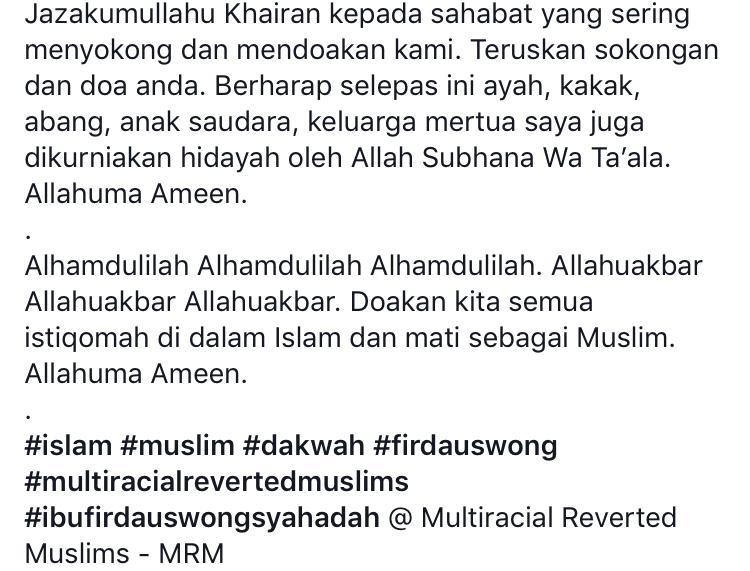 Lepas 14 Tahun Masuk Islam, Kini Giliran Ibu Pula Ucap Syahadah..Alhamdulillah