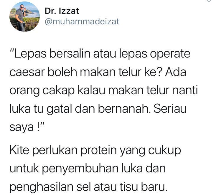 """""""Lepas Bersalin Tak Boleh Makan Telur Nanti GataI"""" – Doktor Selar Kenyataan Ini"""