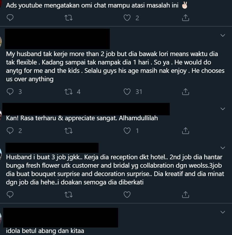 "[VIDEO] ""Suami Buat 3 Kerja, Baju Dia RM9 Takpe Asalkan Makan Pakai Bini Cukup"""