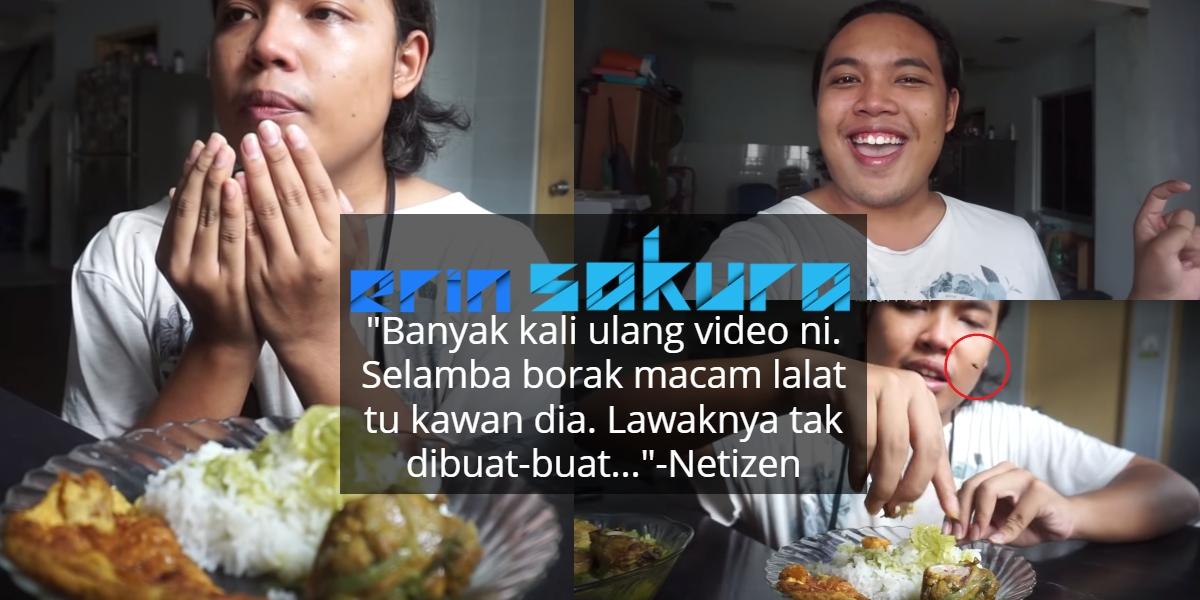 [VIDEO] Excited Nak Makan Tiba-Tiba Lalat Melintas, Tak Pasal-Pasal Kena Sound