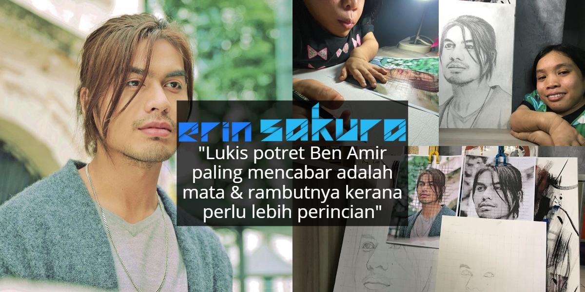 Lukisan Potret 'Real' Habis, Wanita OKU Ini Tak Sangka Ben Amir Balas Nak Beli