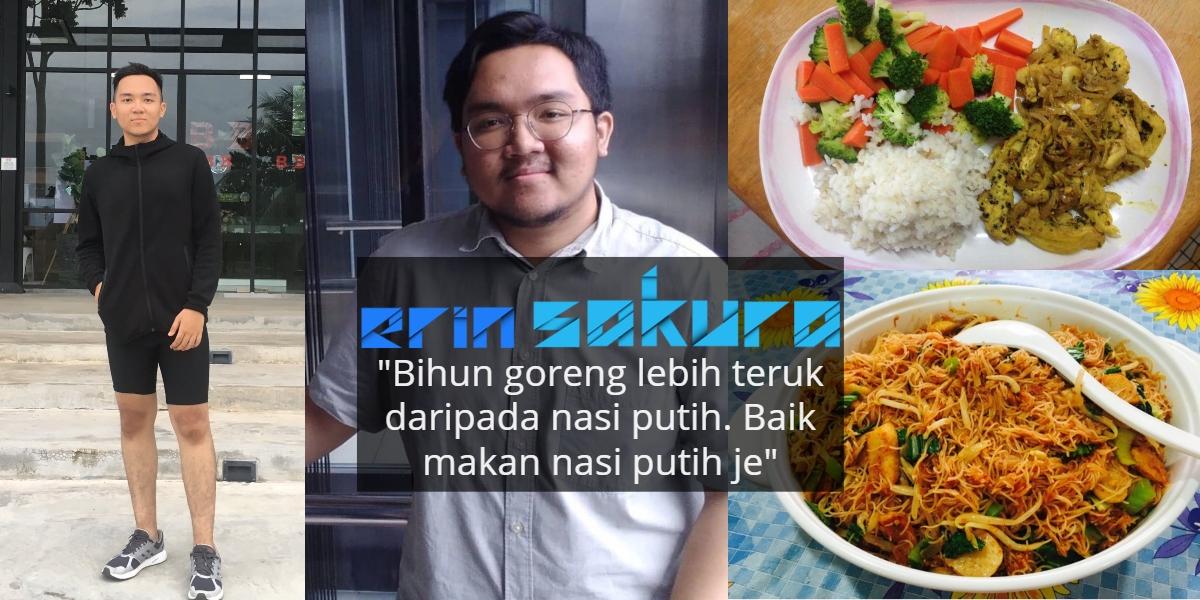 Tahan Nafsu 'Mentekak' Nasi & Jangan Timbang Berat, Pemuda Ini Hilangkan 35kg
