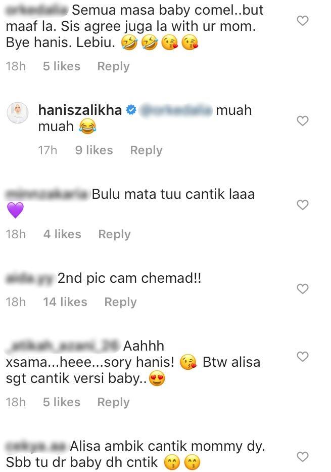 """Hanis Zalikha Kongsi Foto Masa Baby Dengan Anak – """"Mama Kata Alisa Lagi Cantik"""""""