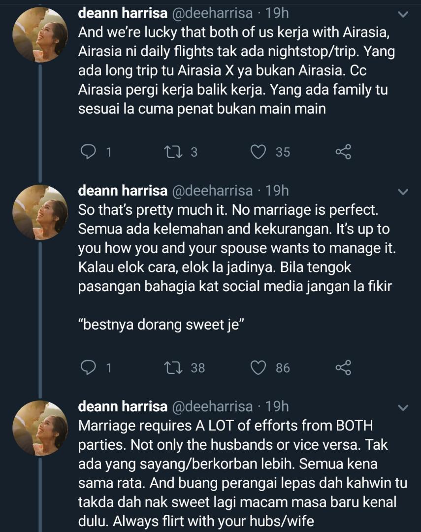 Nampak Sweet Suami Isteri Kerja Cabin Crew, Hakikatnya Hanya Tuan Badan Tahu