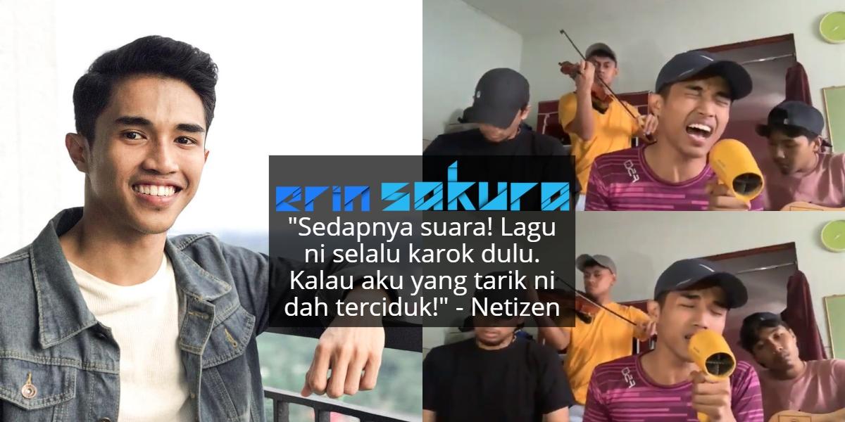 [VIDEO] Payung Lagu 'Tiara' Dengan Kawan Ala-Ala Busking, Suara Pemuda Ini Padu