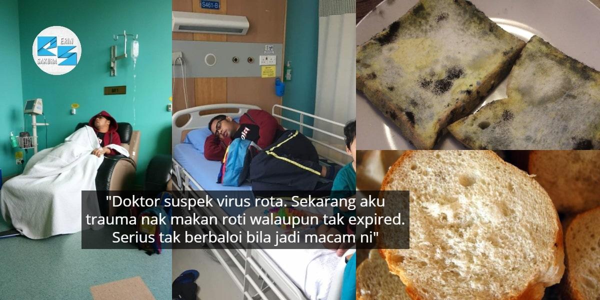 Demam Sampai Menggigil Teruk, Lelaki Serik Makan Roti Expired Yang Nampak Elok
