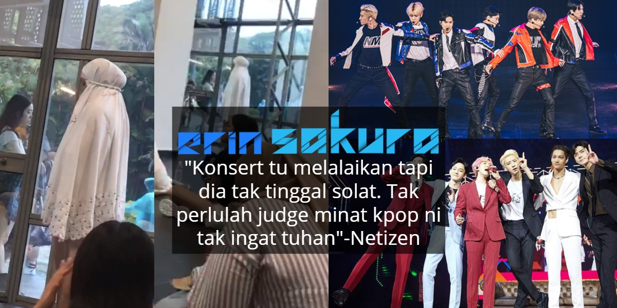 Tunai Solat Masa Excited Pergi Konsert K-Pop, Video Ini Buat Ramai 'Terciduk'