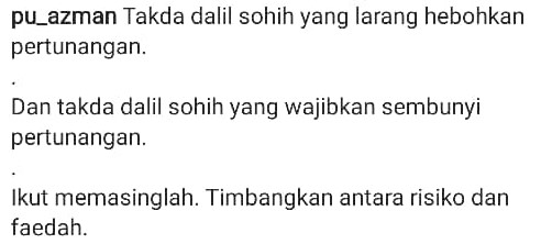 """""""Tiada Dalil Sohih Pun Sembunyi Atau Hebohkan Pertunangan.."""" – PU Azman"""