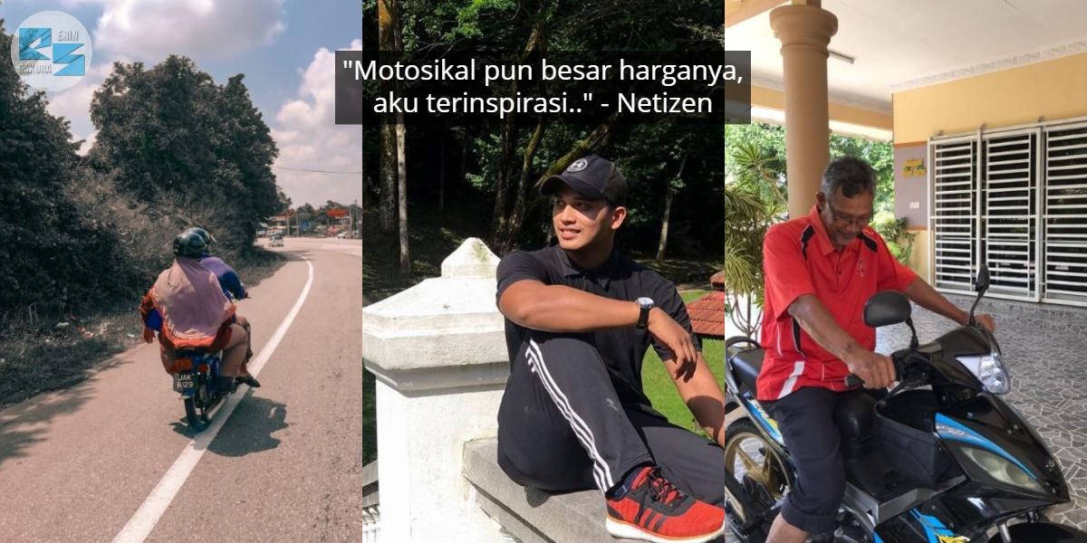 Belikan Ayah Motosikal Walaupun Masih Study, Pemuda Ini Buat Ramai Terinspirasi