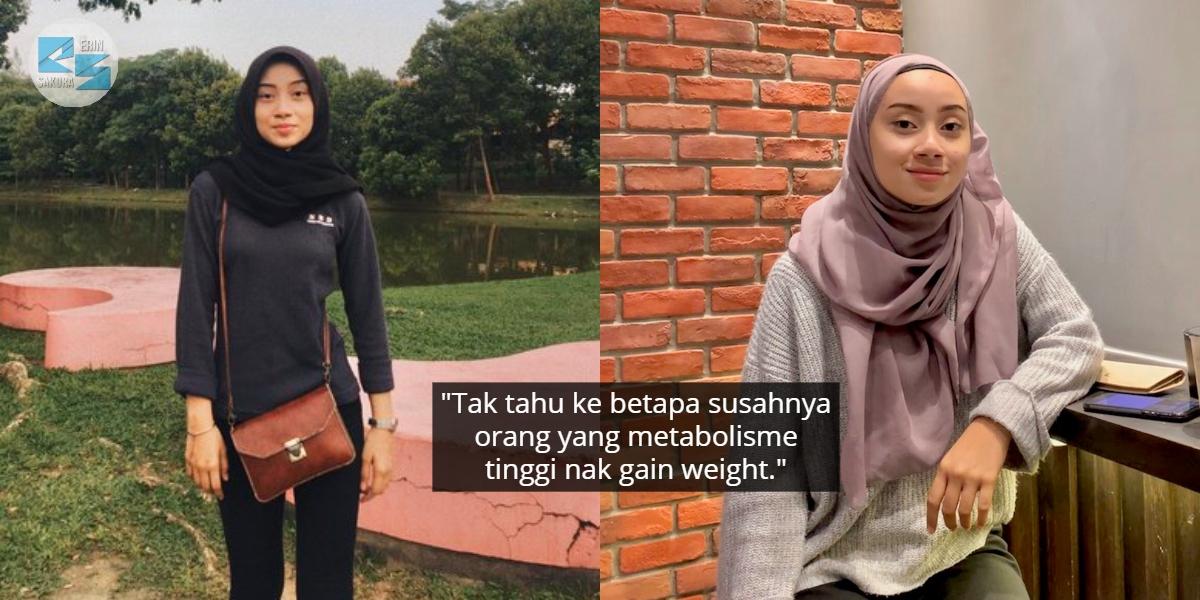Dulu Keding & Ringan, Gadis Cantik Ini Kongsi Tips Efektif Naikkan Berat Badan