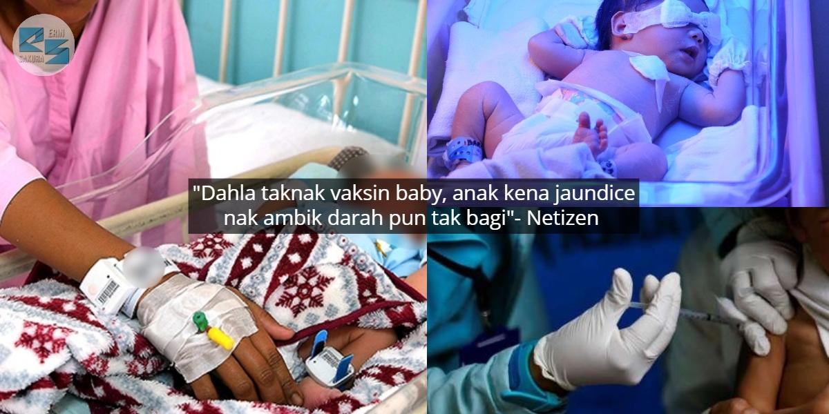 Pengaruh Anti Vaksin, Netizen Bengang Ibu Tak Benar Anak Hidap Kuning Dirawat