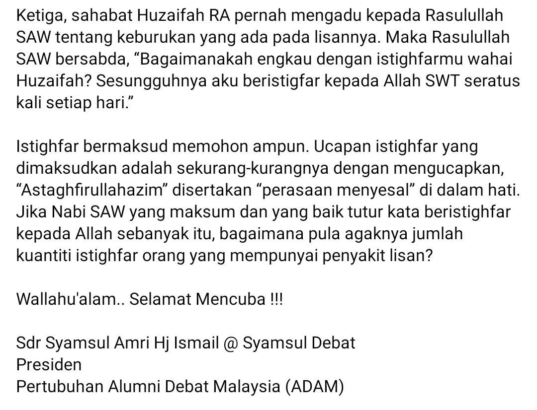 """""""Mulut Jahat Tapi Hati Dia Baik…""""-Sebenarnya Tiada Istilah Begitu Dalam Islam"""