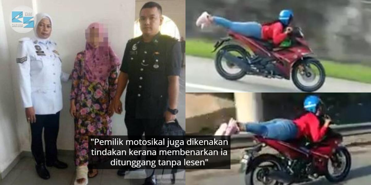 [VIDEO] Viral Tunggang Motor Ala 'Superman', Gadis Bawah Umur Akhirnya Ditahan