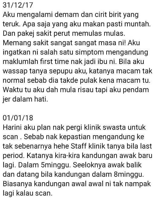 Janin Hilang Bukan Salah Sesiapa, Wanita Dedah Pengalaman Hamil 'Blighted Ovum'