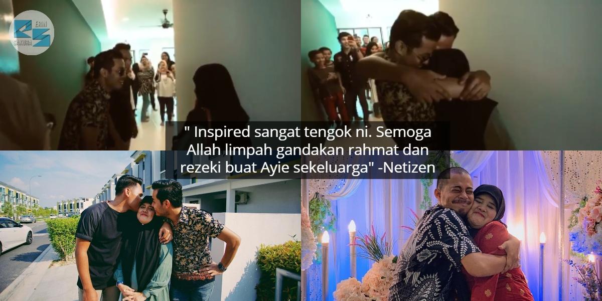 [VIDEO] Menangis Si Ibu, Syafie Naswip & Adik 'Suprise' Hadiahkan Rumah Pertama