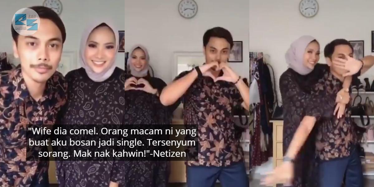 [VIDEO] Suami Isteri Buat TikTok Sweet, Netizen Pula Yang Rasa Nak Kahwin Cepat