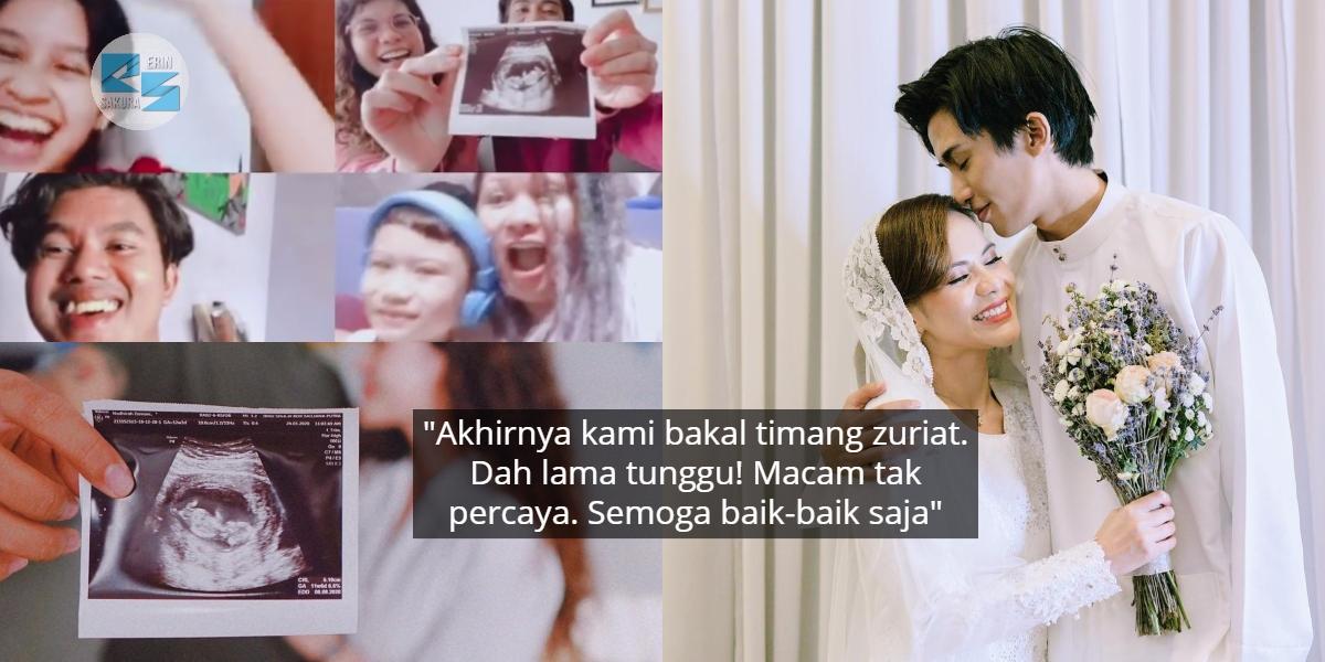 Hamil Kali Kedua Lepas Gugur Tahun Lalu, Suami Isteri Buat Surprise Pada Family