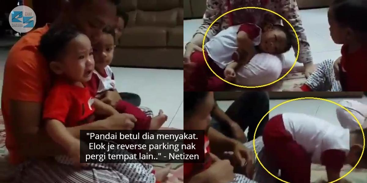 [VIDEO] Muka Tak Bersalah, Gelagat Budak Dengki Dengan Sepupu Ini Lawak Habis