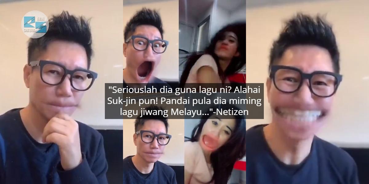 [VIDEO] Bersungguh Miming Lagu Melayu, Ramai Berdekah Bila Suk-jin Main TikTok