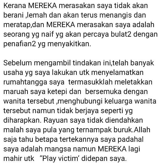 """""""Mereka Mahir Play Victim.."""" – Hanna Serik Dikhianati, Nafi Dipelawa Bermadu"""