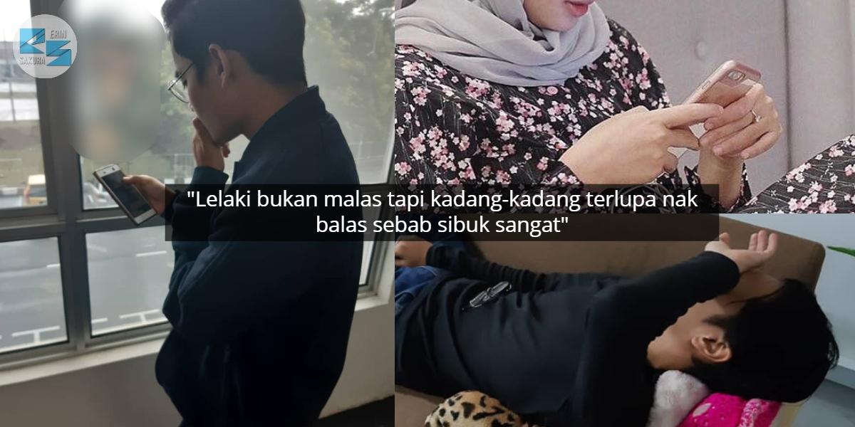 """""""Lelaki Bukan Malas Reply Mesej, Tapi Sebab Perempuan Banyak Tanya"""""""