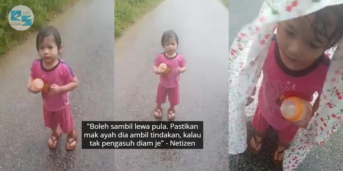 """""""Gigil Sebut Ibu, Ibu"""" – Budak Ditemui Merayau Dalam Hujan Sebab Pengasuh Cuai?"""
