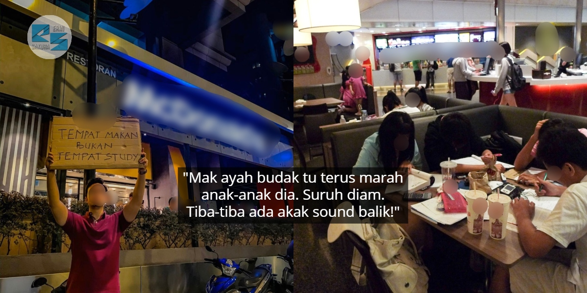 Busy Study Group Di Restoran Fast Food, Pelajar Sound Meja Sebelah Sebab Bising
