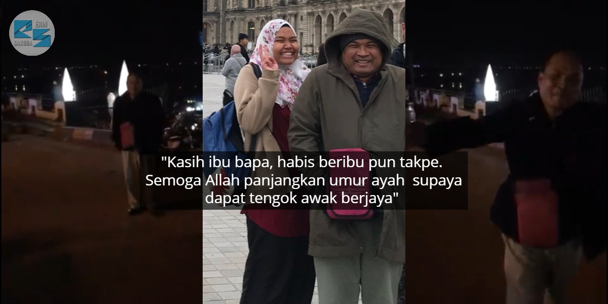 [VIDEO] Terbang Dari Malaysia Ke Mesir, Gadis Sebak Bapa Datang Buat Suprise