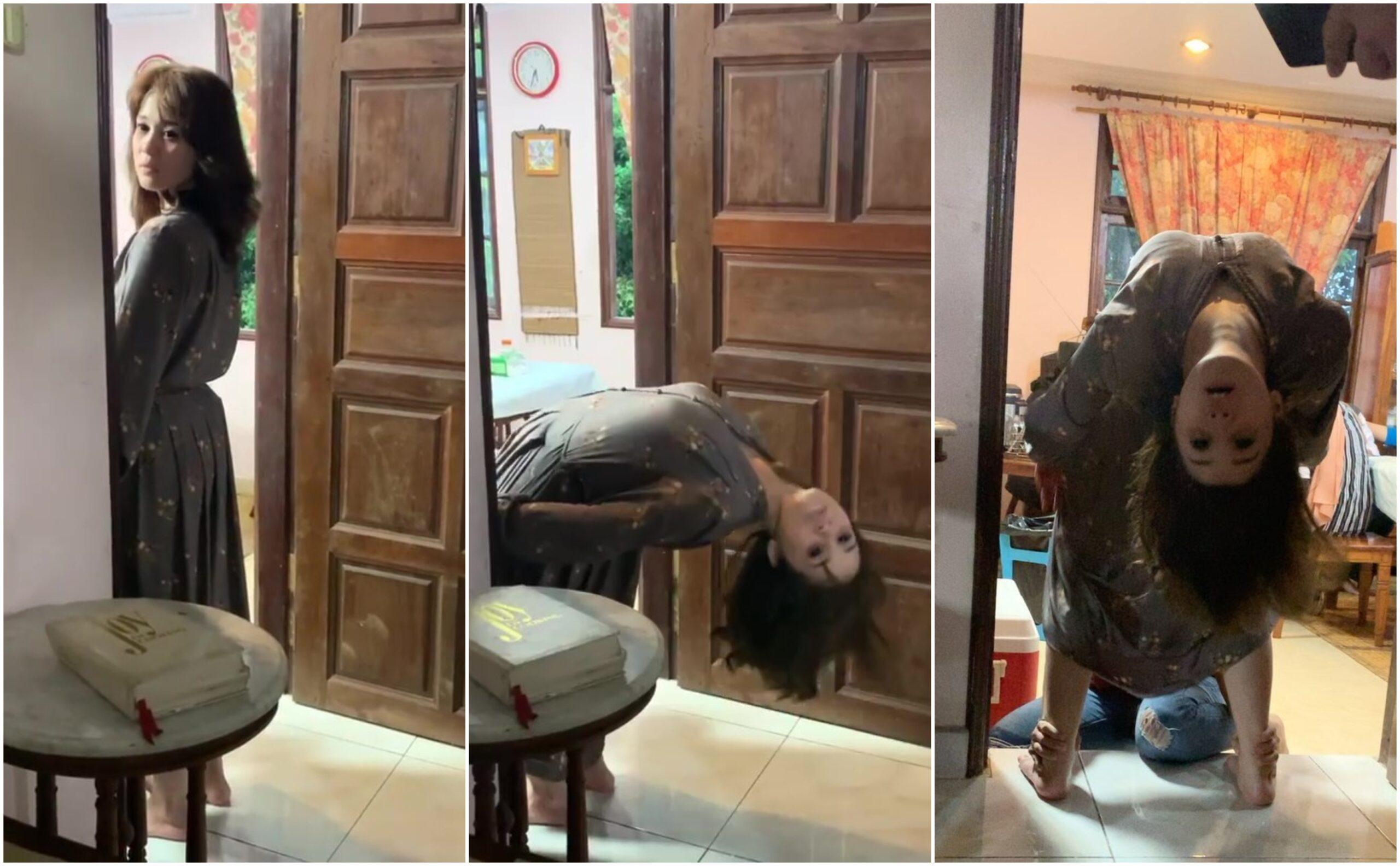 [VIDEO] Emma Maembong Bikin Ramai 'Seriau', Jadi Hantu Badan Lipat Ke Belakang