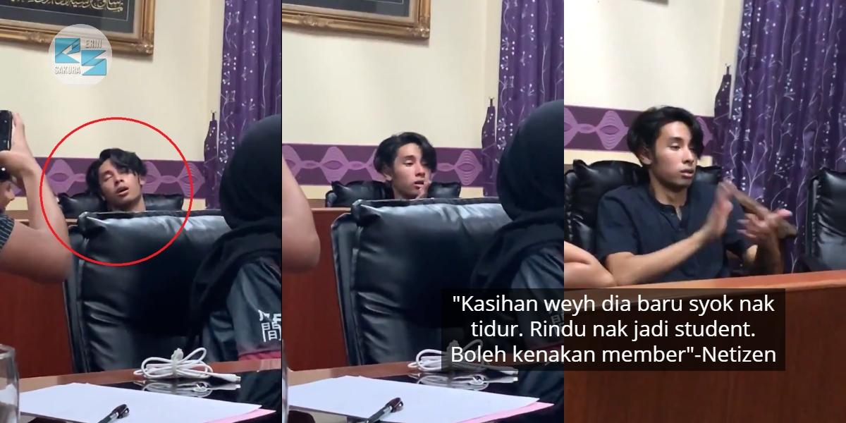 [VIDEO] Tidur Melopong Masa Meeting, Pengabisnya Member Pakat Prank 'Berjemaah'