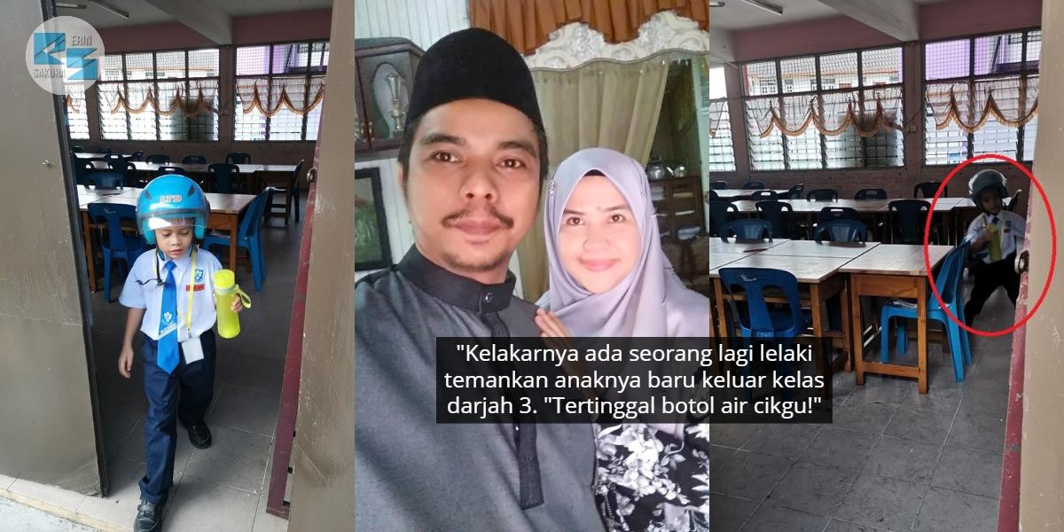 Anak Terlupa Botol Air Berjenama, Bapa Sanggup Kutip Balik Takut Wife Meroyan