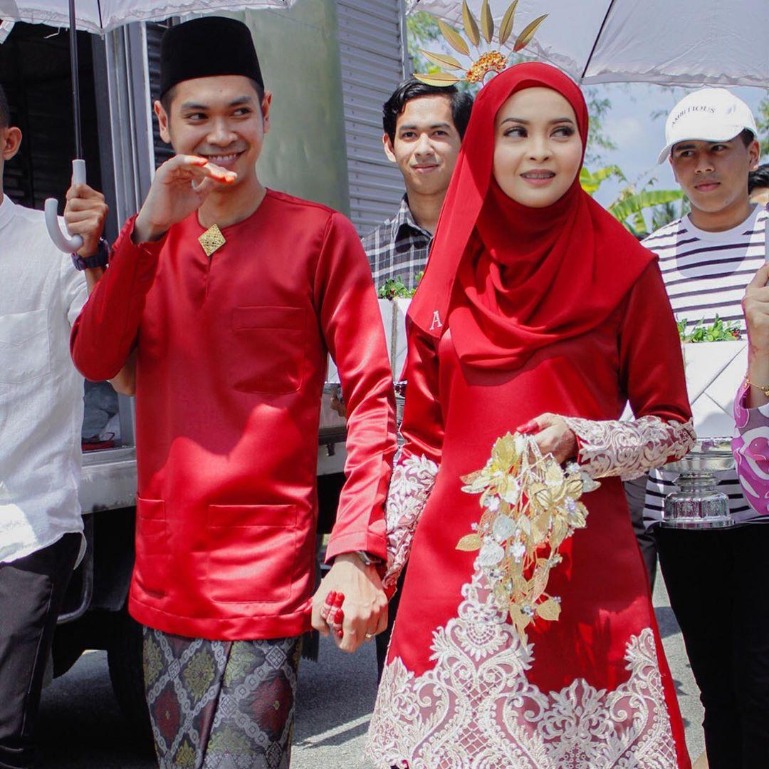 Majlis Bertandang Simple Viral, Pengantin Berkurung Merah Buat