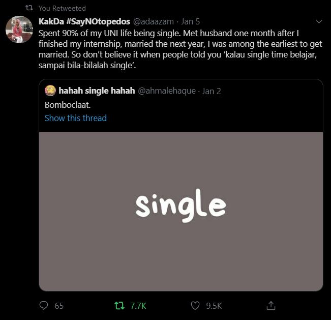 Tak Couple Masa Study Petanda Single Selamanya? Wanita Ini Tolak Mitos Merepek