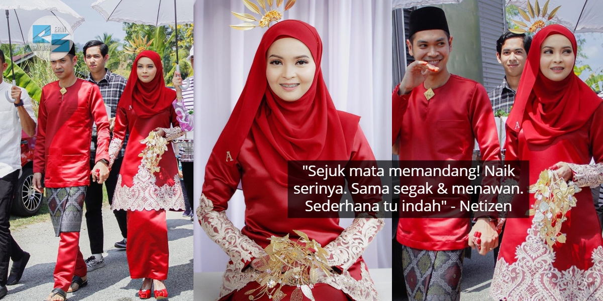 Majlis Bertandang Simple Viral, Pengantin Berkurung Merah Buat Ramai Tertawan